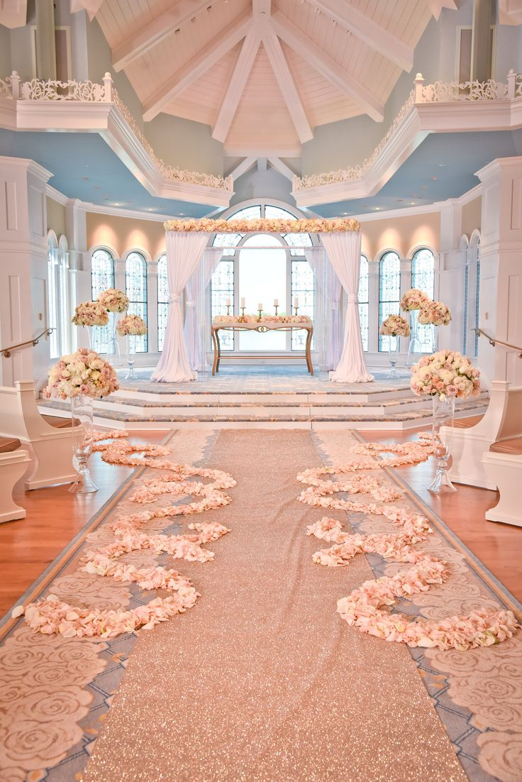 Decor look from the Disney's Fairy Tale Weddings TV Show inside Disney's Wedding Pavilion