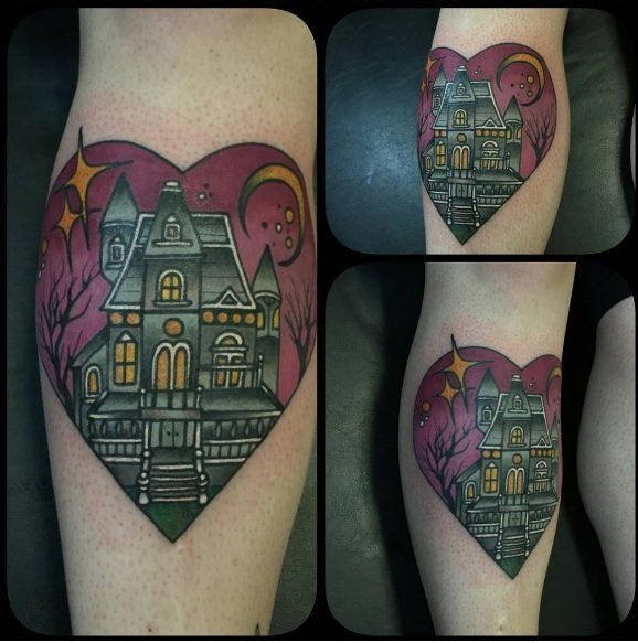 My haunted house done by Shane Klos at Revolution Ink in Evansville, IN. : tattoos