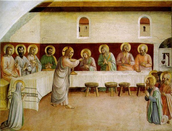 BEATO ANGELICO - Comunione degli Apostoli - affresco - ca. 1442 - cella n. 35 - Convento-Museo N. di San Marco, Firenze