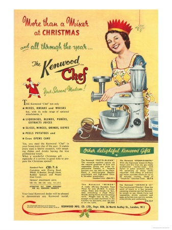 Kenwood Chef, Mixers, Processors, Kitchens Gadgets Christmas Presents, UK, 1930