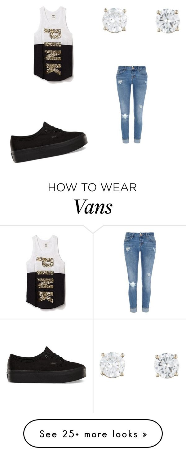 """""""think pink"""" by emmancarrasco on Polyvore featuring Victoria's Secret, River Island and Vans"""