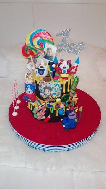 LAS DULCES TARTAS DE GLORIA: Cake Yo-Kais ¡Feliz cumpleaños!!