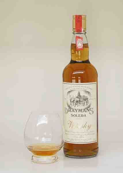 Tasting notes for the  Drayman's Solera.  Whisky from South Africa