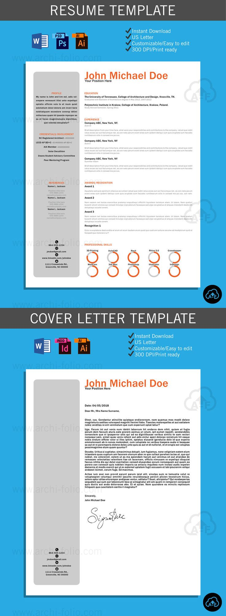 Minimal_Left_DS. Cover Letter TemplateLetter TemplatesResume TemplatesResume  ArchitectureDesign ResumeMinimal ...