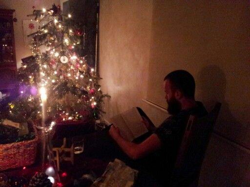 Christmas eve - sasha reading to the tree