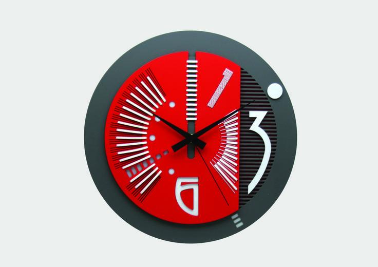 unique geometrical wall clock