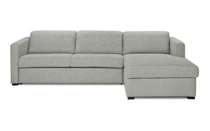 Schlafsofa Gastfreund Recamiere Rechts Stoff Lana Hellgrau Sitzfeldt Com Moderne Couch Recamiere Sofa Design