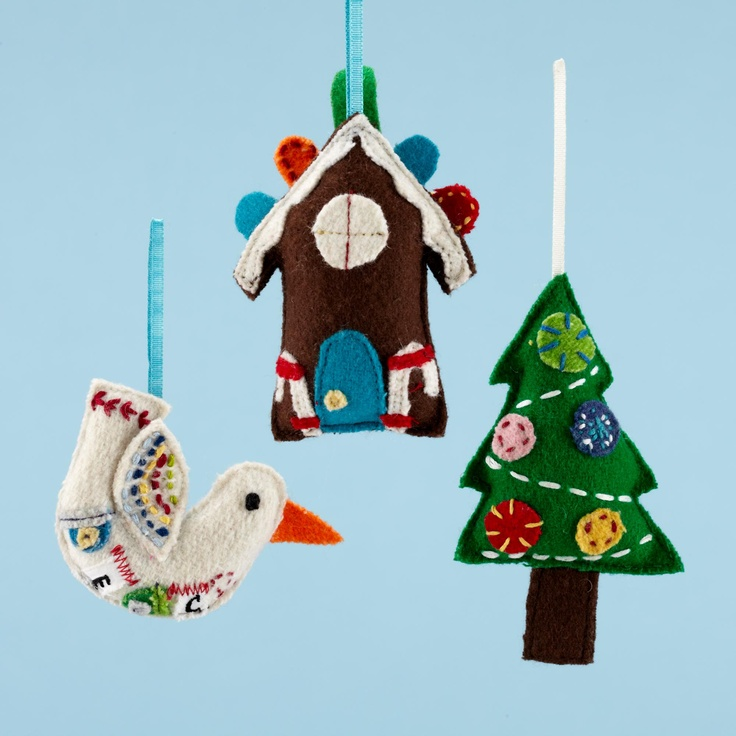 Felt Holiday Ornaments.
