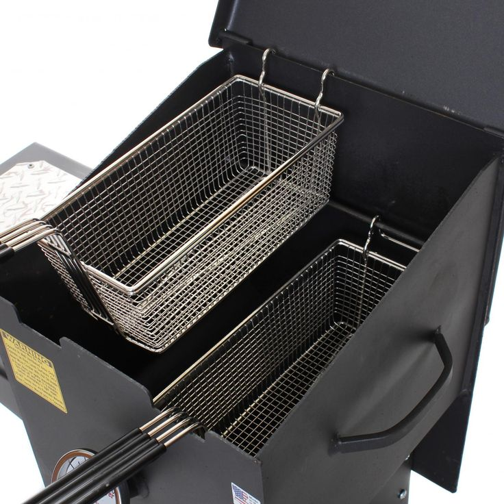 Cajun Fryer 4 Gallon Propane Gas Deep Fryer With 2 Baskets