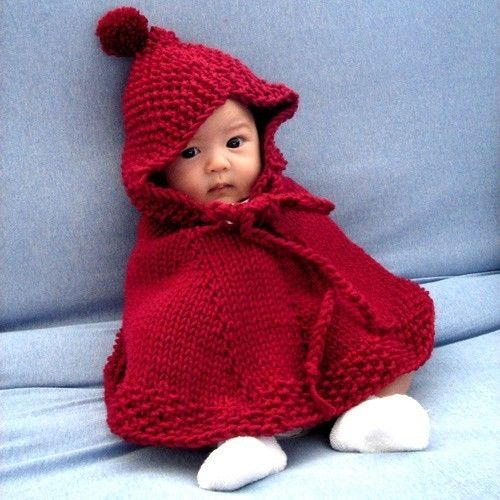 Knit little red riding hood hooded poncho....so sweet <3Little Red, Halloween Costumes, Costumes Halloween, Baby Boys, Asian Baby, Red Riding Hoods, Baby Girls, Kids, Knits