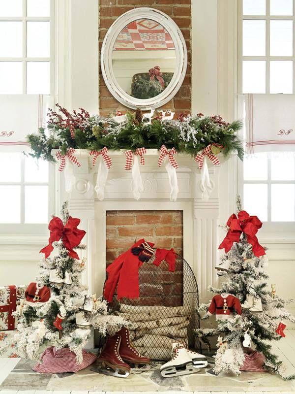 Christmas Mantel Decor Pin By Leyla Arner On Holiday Gift Decoration