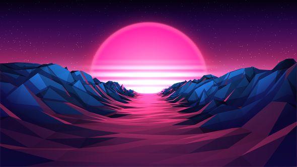 80s Retro Background 02 4k In 2020 Retro Background Futuristic Background Neon Wallpaper