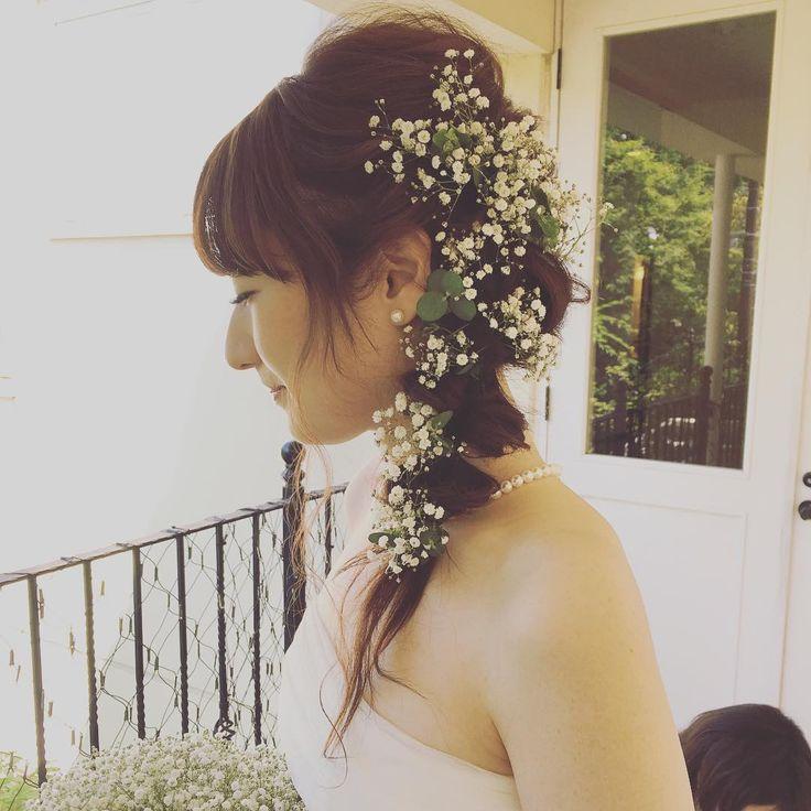 #weddinghair #かすみ草natsumi.maki〜hair&makeup〜   (@natsumi_maki_12) Instagram