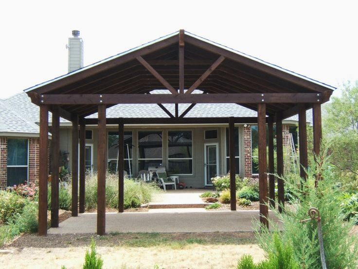 11 best car shelters images on pinterest carport garage for Detached covered patio plans