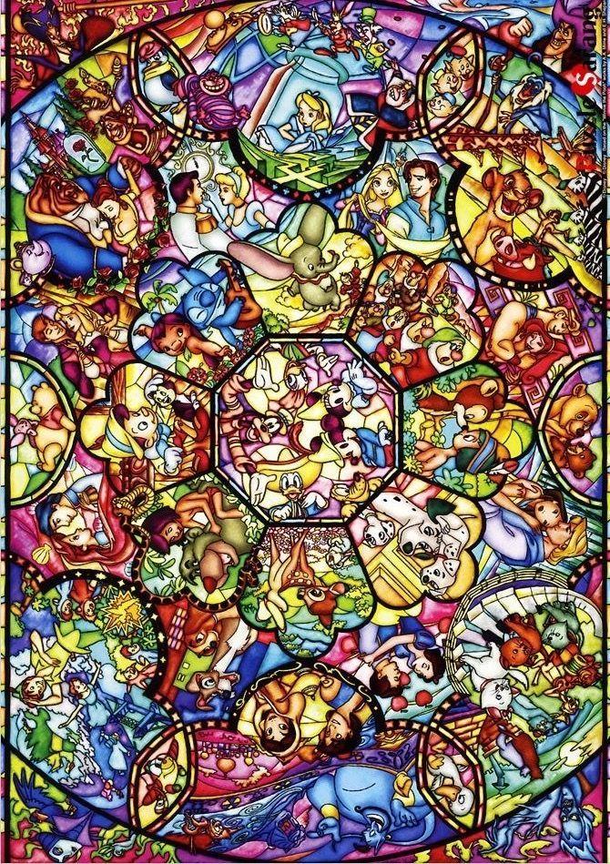York Kunstuntericht Kunstuntericht York Disney Collage Disney Stained Glass Wallpaper Iphone Disney