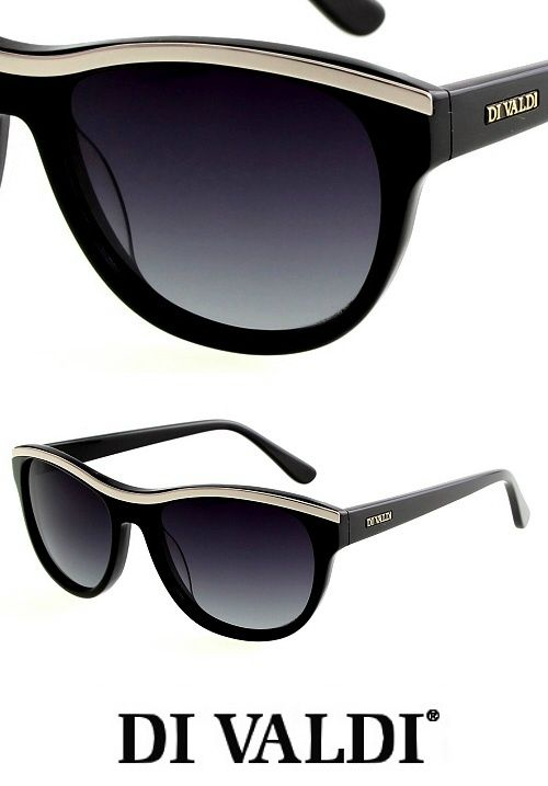 Stylish black and gold retro cat eye sunglasses for ladies from DiValdi. Find these and other great looks at StayAmazing.com