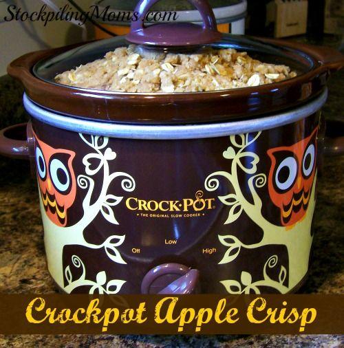 Crockpot Apple Crispis the perfect dessert crockpot recipe!