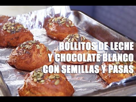 (3246) RECETA FITNESS/ Bollitos de leche y chocolate blanco con semillas y pasas - YouTube