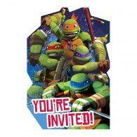 TMNT Invitations Pkt8 $7.95 A491194