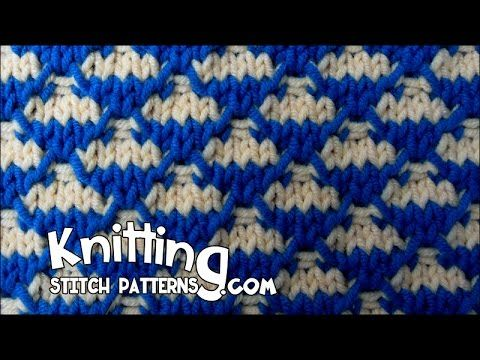 Knitting Stitch Patterns: Quilted Check