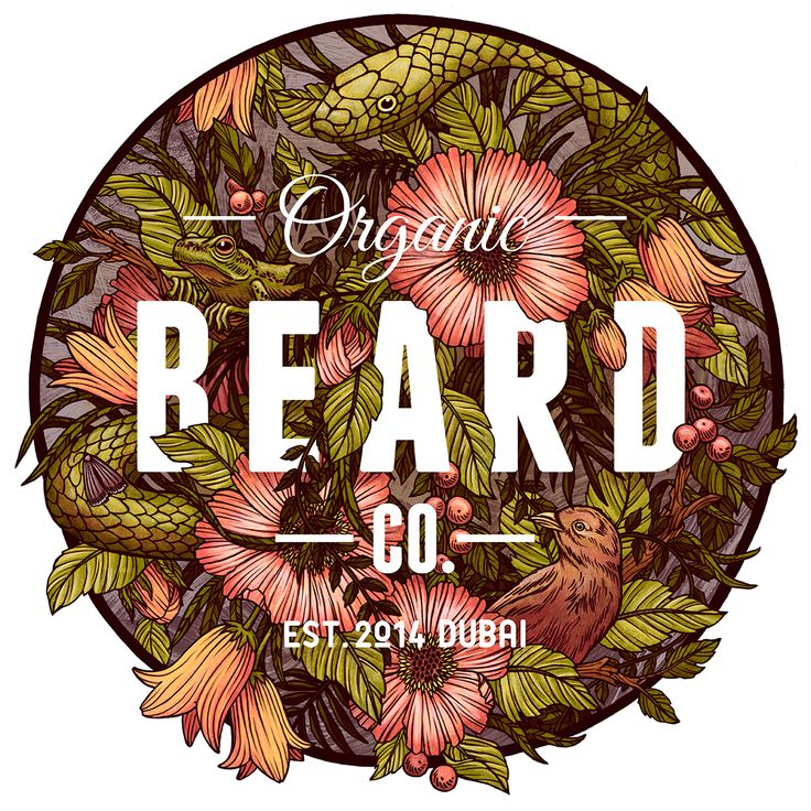 T-shirt design for the company Organic Beard Co. based out of Dubai.
