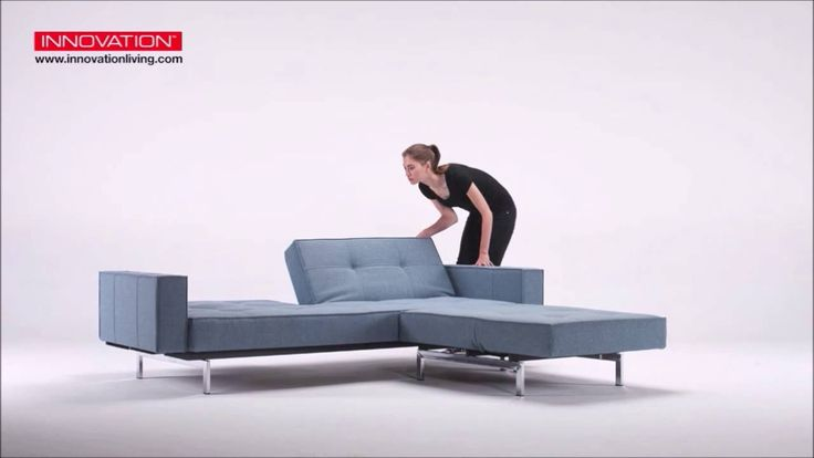 Innovation Living Splitback sofa bed & chair with stainless steel legs