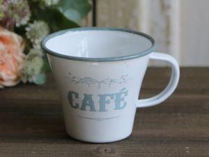 Bilde av Emaljekopp Cafe hvit