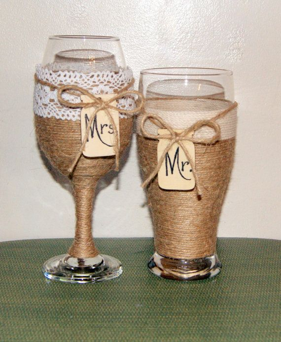 Rustic Wedding Champagne / Personalized by CarolesWeddingWhimsy, Rustic Wedding and Special Event Decoration, Rustic Wedding Toasting Wine Glass and Beer Pilsner, Country Wedding Glasses, Mason Jar Wedding and Special Event Decoration can be found here https://www.etsy.com/listing/268394632/rustic-wedding-champagne-personalized
