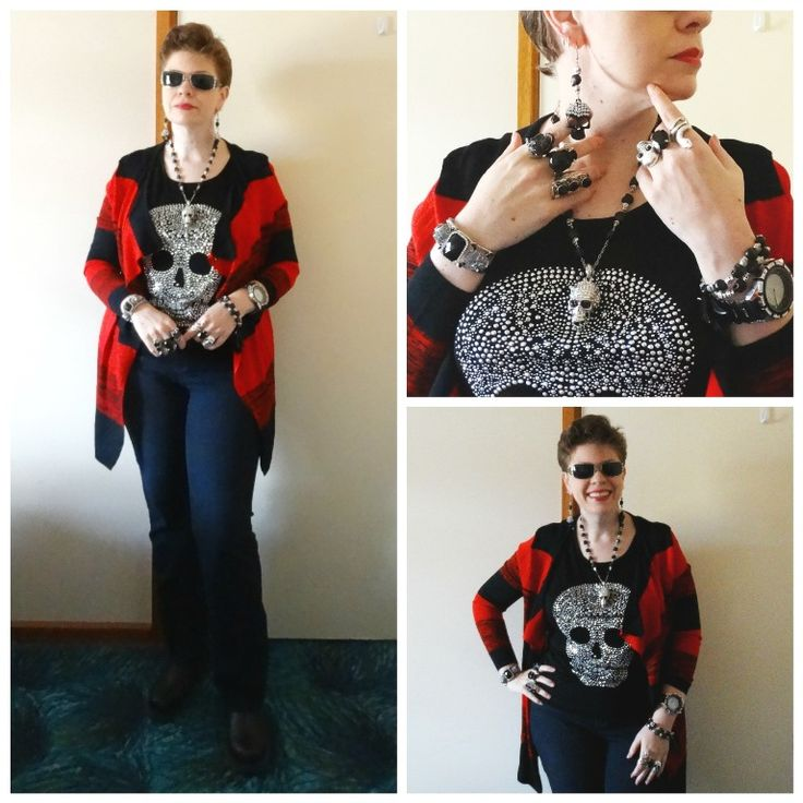 JDS - MY STYLE: Ice Design top, Lesley's Boutique cardi - more details on the blog - jeweldivasstyle.com/my-style-october-style