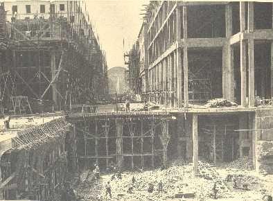 ricostruzione di via Roma