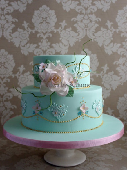 Vintage Lace Cake Decorating : Vintage Rose and Lace 80th Birthday Cake - by suzanne ...