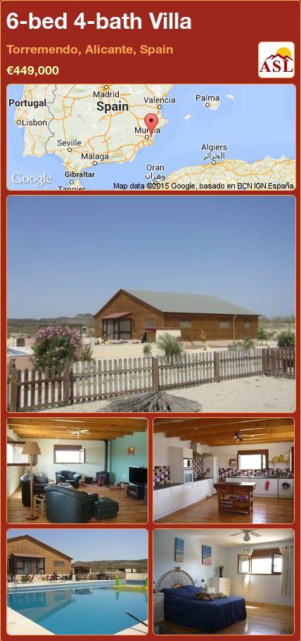 6-bed 4-bath Villa in Torremendo, Alicante, Spain ►€449,000 #PropertyForSaleInSpain