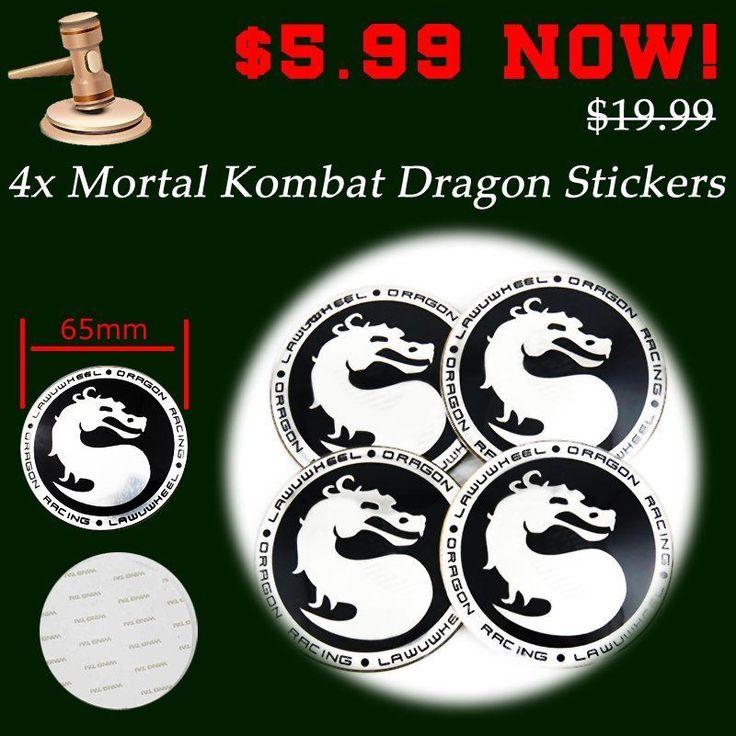4pcs 65mm Mortal Kombat Logo Tire Center Hub Cap Emblem Alloy Decals Wheel Badge | eBay Motors, Parts & Accessories, Car & Truck Parts | eBay!