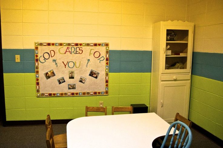 stipes in a sunday school classroom | We redid the bulletin board with a simple message and pictures