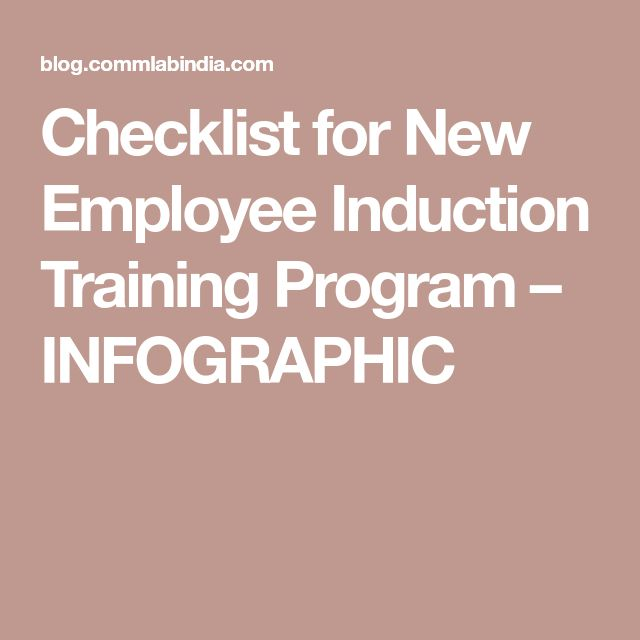 Checklist for New Employee Induction Training Program – INFOGRAPHIC