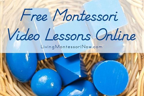 Montessori Pre-Math And Pre-Reading Activities Are Fun And So Very Educational And Now You Can Pattern From These Free Videos