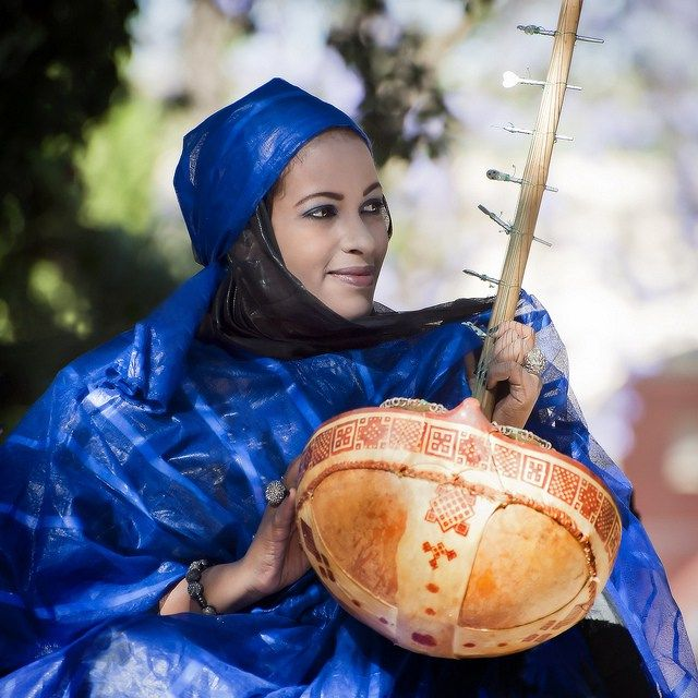 Berber woman of Mauritania in traditional style. Image copyright by Thierry Lancino