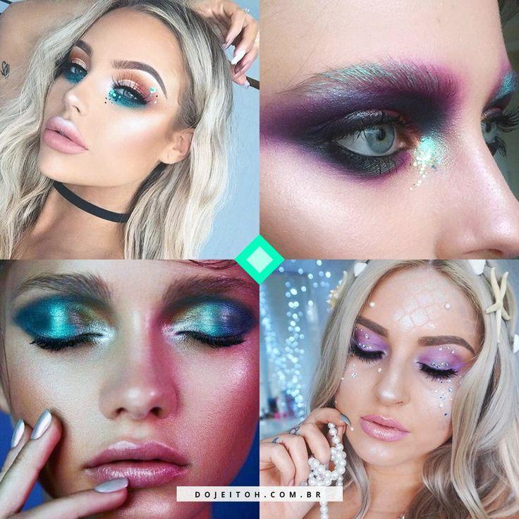 Dicas de maquiagem de sereia para dar um up no seu look de carnaval