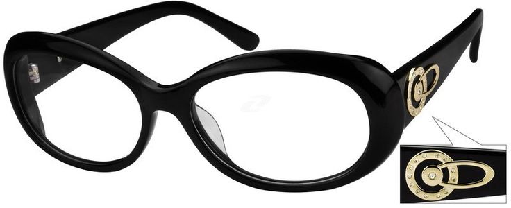 443621 Acetate Full-Rim Frame with Design on Temples