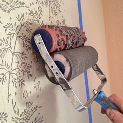 NotWallpaper Patterned Paint Rollers are easier than you would think!