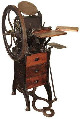 One of the most beautiful machines in the world: an antique letterpress.