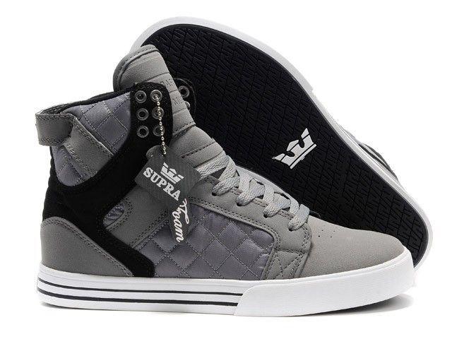 SUPRA shoes Men's shoes Male sneakers gray-black