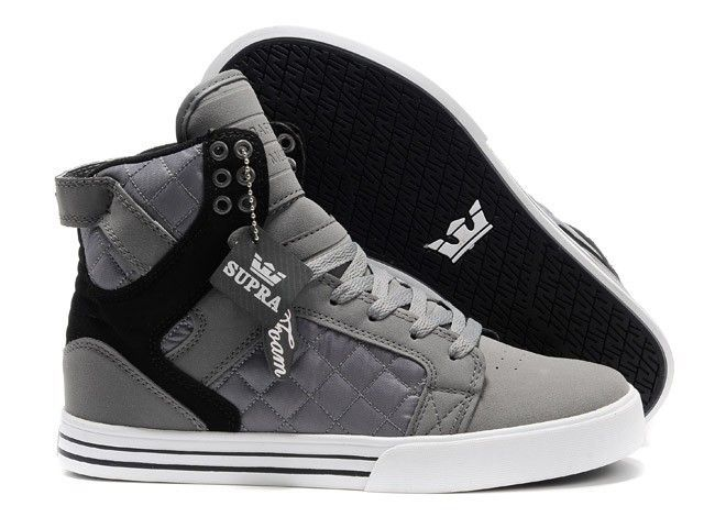 SUPRA shoes Men's shoes Male sneakers gray-black