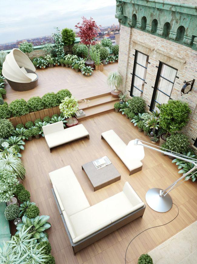 Die 25+ Besten Ideen Zu Innengarten Auf Pinterest | Hängepflanzen ... Dachterrasse Im Ostasiatischen Stil