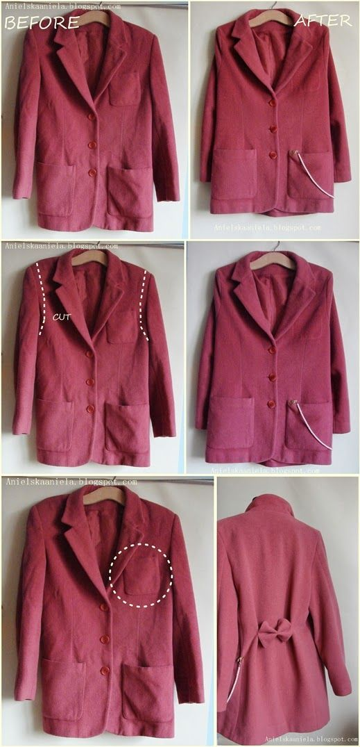 coat jacket refashion