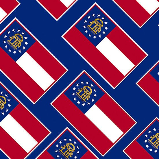 Smartphone Case - State Flag of Georgia  - Patchwork Blue Diagonal