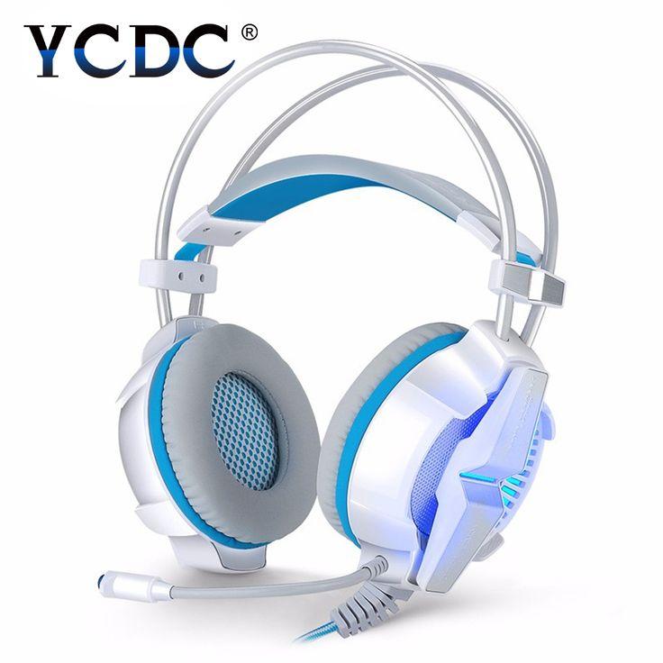 G7000 DOTA2 Gaming Headphone Online Game White Headset LEDMic Line Control Blue / Black / Red / White