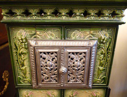 Poêle Alsacien - Matériaux anciens Style Art nouveau