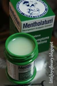 Mentholatum ointment (or Vicks) repel mosquitoes more safely than DEET.