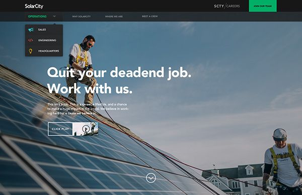 SolarCity Recruiting Website on Web Design Served